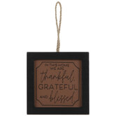 Thankful, Grateful & Blessed Ornament