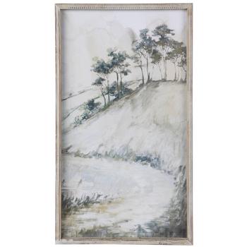 Trees On Hillside Framed Wall Decor