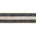 Gray & Gold Striped Wired Edge Mesh Ribbon - 2 1/2