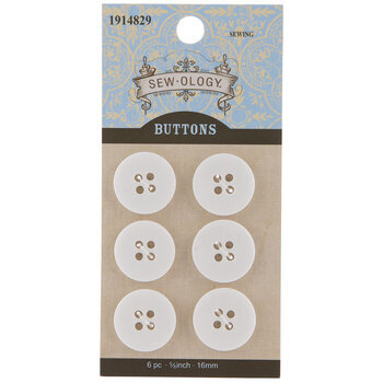 White Round Buttons
