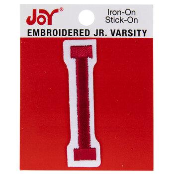 "Red Junior Varsity Letter Iron-On Applique I - 2"""