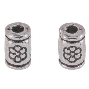 Flower Tube Beads - 3mm x 5mm