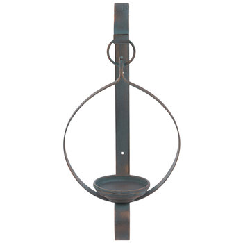 Blue & Copper Metal Wall Sconce