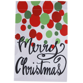 Merry Christmas Polka Dot Garden Flag