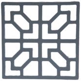 Gray Tile Metal Trivet