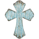 Swirl Metal Wall Cross