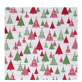 Red & Green Christmas Tree Gift Wrap