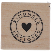Kindness Enclosed Rubber Stamp