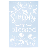 Simply Blessed Floral Stencil