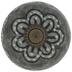 Gray Round Flower Knob