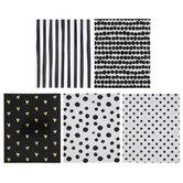 Black, White & Gold Pocket Folders
