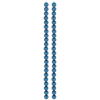 Blue Czech Glass Pearl Bead Strands - 8mm