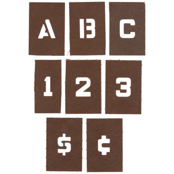 Reusable Laminated Letter & Number Stencils