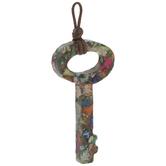 Dyed Imperial Jasper Key Pendant