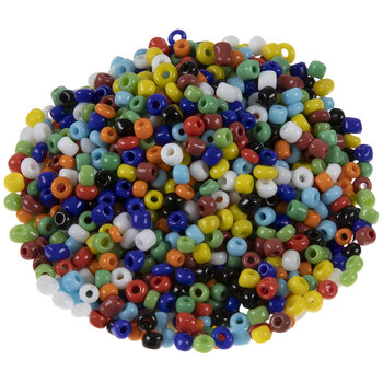 Opaque Multi-Color Glass Seed Beads - 8/0