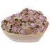 Pink Floral & Rhinestone Heart Jewelry Box