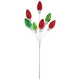 Red & Green Bulb Pick