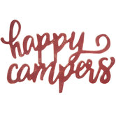 Red Happy Campers Wood Wall Decor