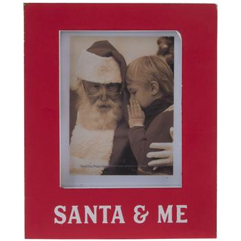 """Santa & Me Wood Frame - 2"""" x 2 3/4"""""""