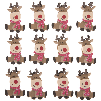 Christmas Foam Reindeer Stickers