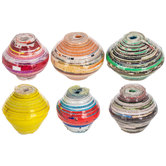 Handmade Recycled Paper Beads