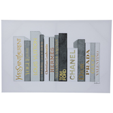 Designer Books Canvas Wall Decor