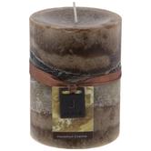 Hazelnut Creme Layered Pillar Candle