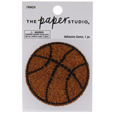 Basketball Glitter & Rhinestones Sticker