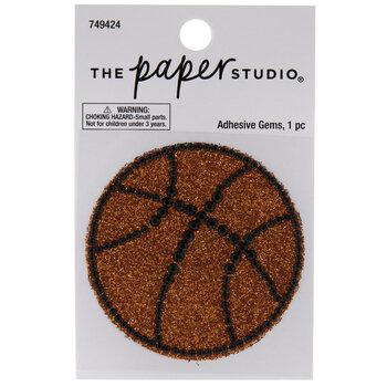 Basketball Glitter & Rhinestones Sticker
