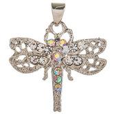 Rhinestone Dragonfly Charm
