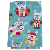 Floating Frenchie Kitchen Towel
