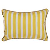 Yellow & White Striped Pillow