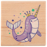 Narwhal Rubber Stamp