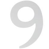 """White Wood Letter 9 - 6"""""""
