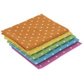 Rainbow Polka Dot Fat Quarters