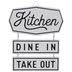 Dine In Take Out Metal Wall Decor