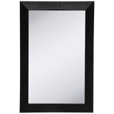 Black Crossgrained Beveled Wall Mirror