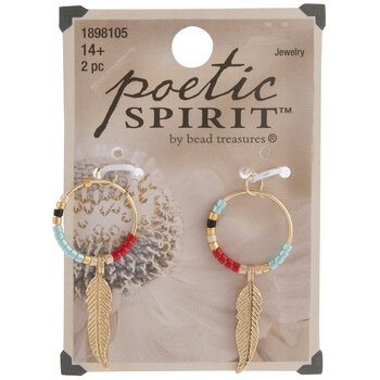 Beaded Loop & Feather Charms