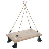 Natural Wood Hanging Shelf