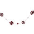 Peppermint Candy Tinsel Garland