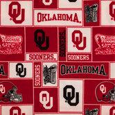Oklahoma Block Collegiate Fleece Fabric
