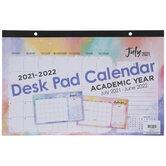 2021 - 2022 Retro Chic Desk Pad Calendar - 12 Months
