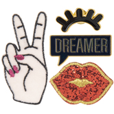 Dreamer Iron-On Appliques & Pins