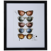 Animal Print Sunglasses Framed Wall Decor
