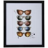 Animal Print Sunglasses Framed Wall Decor