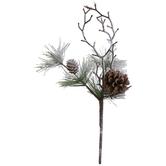 Flocked Twig & Pine Needle Pick