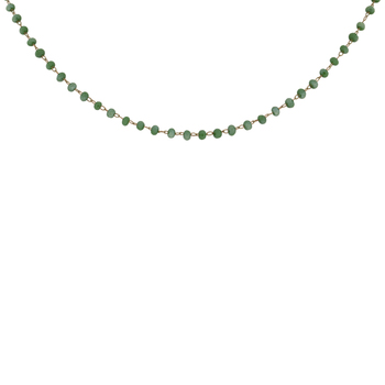 Rosary Glass Bead Necklace