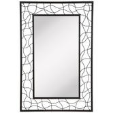 Swirl Wire Frame Metal Wall Mirror