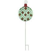 Glitter Ornament Metal Garden Stake