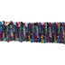 Iridescent Multi Mermaid Sequin Trim - 1 1/2